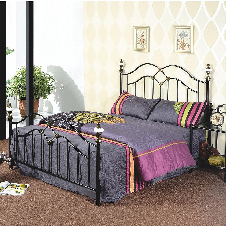 钢艺床型号g920黑色铁艺床 宜家 欧式铁床 美式 乡村 复古 韩式 公主