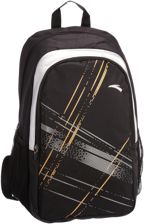 anta 安踏 网球系列 中性 双肩背包 黑/橙 9113155-2图片