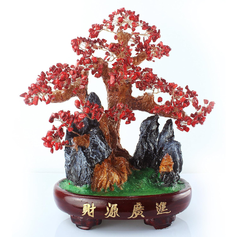 嘉厚采 珊瑚招财树财源广进 水晶树摆件 家居装饰品摆设