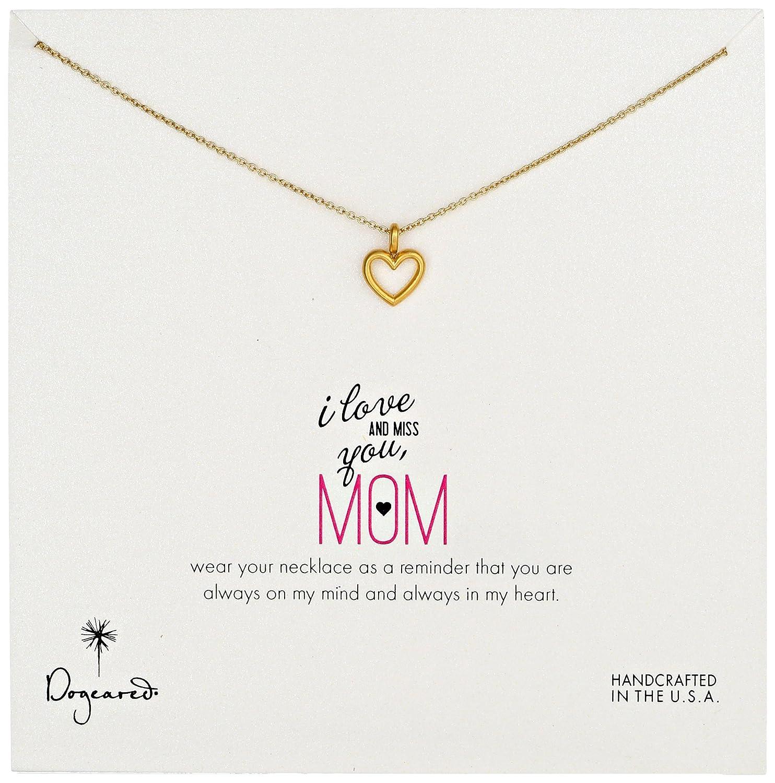 "dogeared 朵吉儿 ""mom"" 母亲系列 爱你想念你 经典款金色心形吊坠项链"