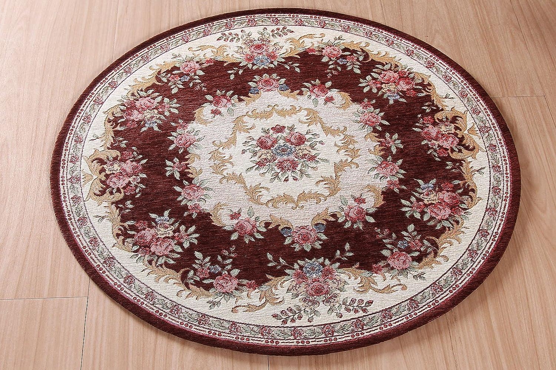 外贸 电脑椅垫 圆形地毯 化妆凳垫圆毯 欧式田园地垫