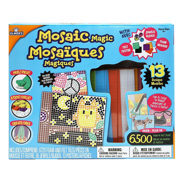 玛吉可 儿童diy手工玩具 宝珠马赛克立体贴纸益智玩具 马赛克贴画套装