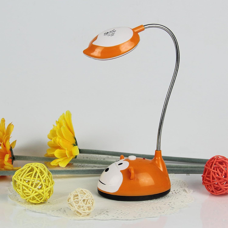 雅格 迷你卡通 充电学习台灯 (橙色)图片