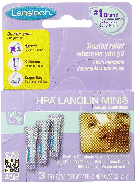 Lansinoh HPA羊毛脂护乳霜,0.25盎司(7.09 克),3件