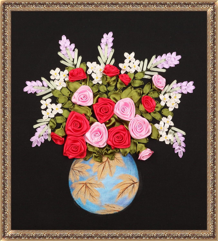 精巧 丝带绣 十字绣 欧式 客厅 挂画 手绘 g1003金枫玉露