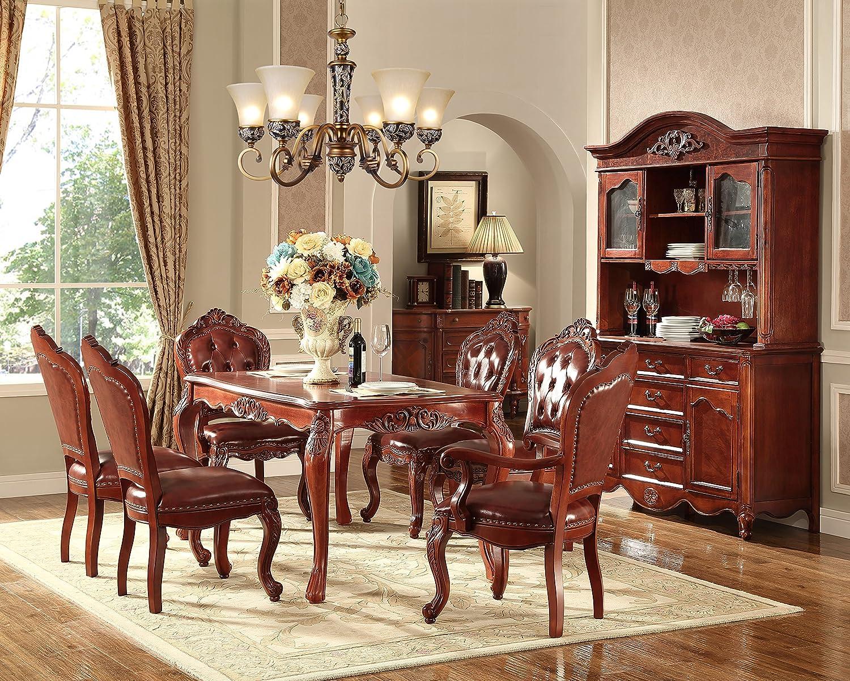 美式实木餐桌椅欧式餐厅饭台饭桌复古家具