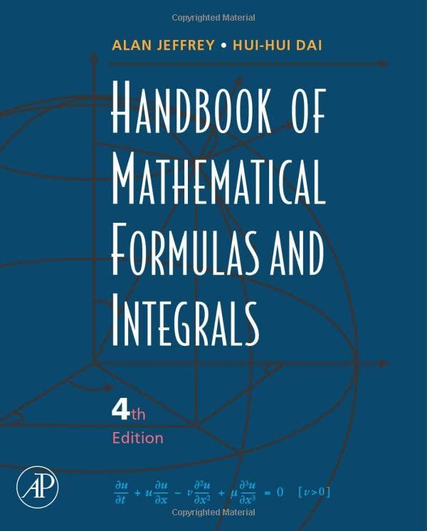 Handbook of Mathematical Formulas and Integrals, 4th Edition