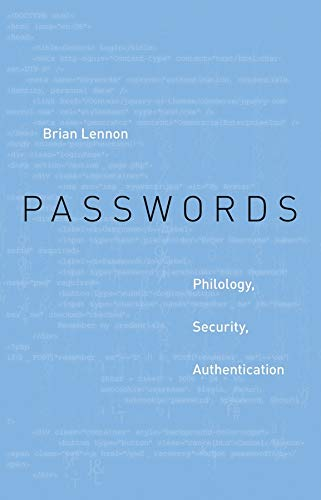 Passwords Philology, Security, Authentication