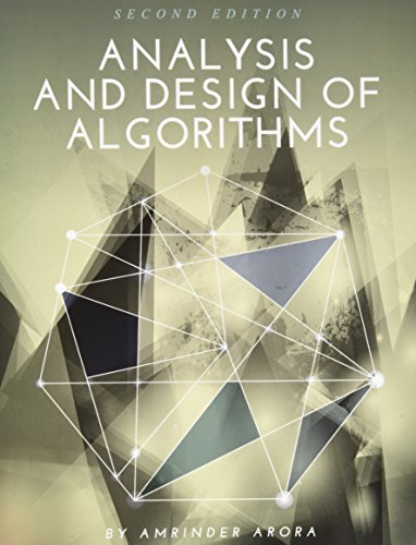 Analysis and Design of Algorithms, 2nd Edition