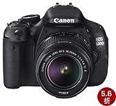 Canon 佳能 EOS 600D 数码单反套机(EFs 18-55mm/f3.5-5.6ISII镜头)